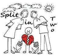 divorce, split in two