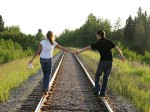married couple on rr tracks