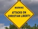 religious liberty attacks sign