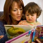 mother reading to a child